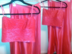 Crop Top and Full Skirt Size (9) $40.00 #274