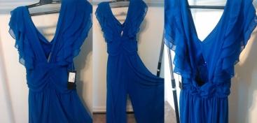 Chiffon Jumpsuit size (L) $30.00