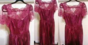 Burgundy Lace Size(10/12) $25.00 #200