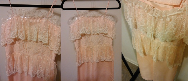 Peach Lace Size (4) $15.00 #456